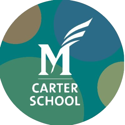 (circular logo for the George Mason University Carter School)